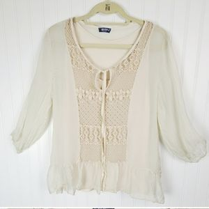 Giulia Sheer Flowy Top Large